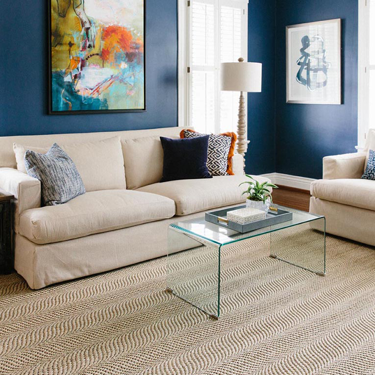 A timeless 100% natural sisal rug for your living room: Weymouth in color coconut.