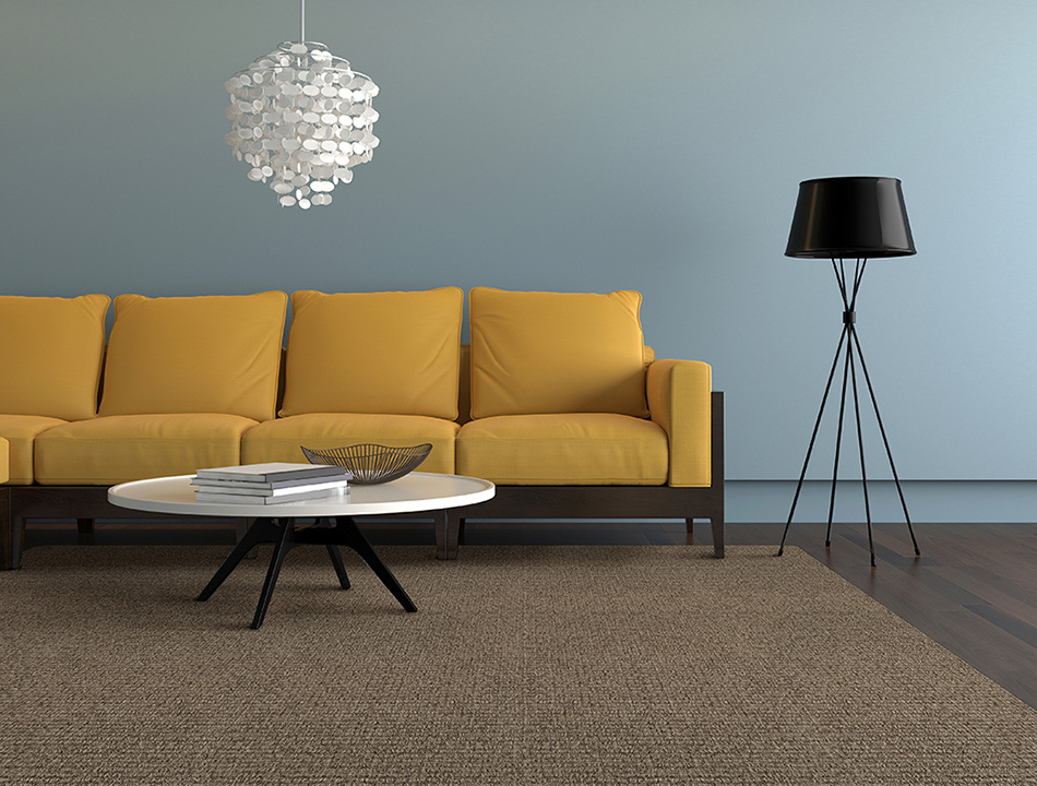 Low VOC rug for allergy sufferers: our SynSisal® Winthrop in color smoke.