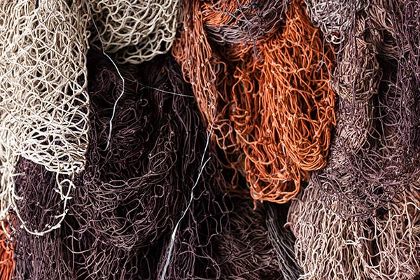 ECONYL®, a sustainable resource, is made from 100% regenerated nylon such as these reclaimed fishing nets.