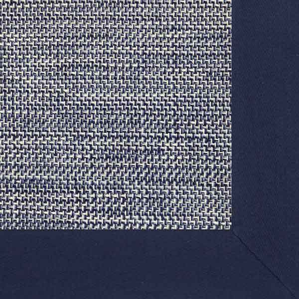 montlake in blue with soft cotton twill binding in navy