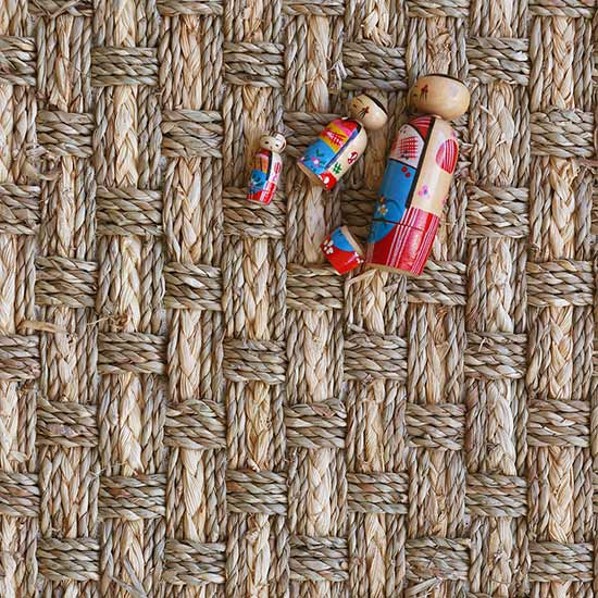 chunky basket weave: tropics in seagrass