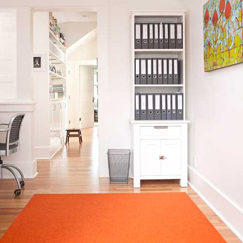 prep area rug in orange squash