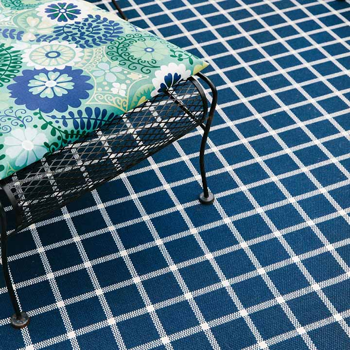 complement your design with sandpoint in blue plaid