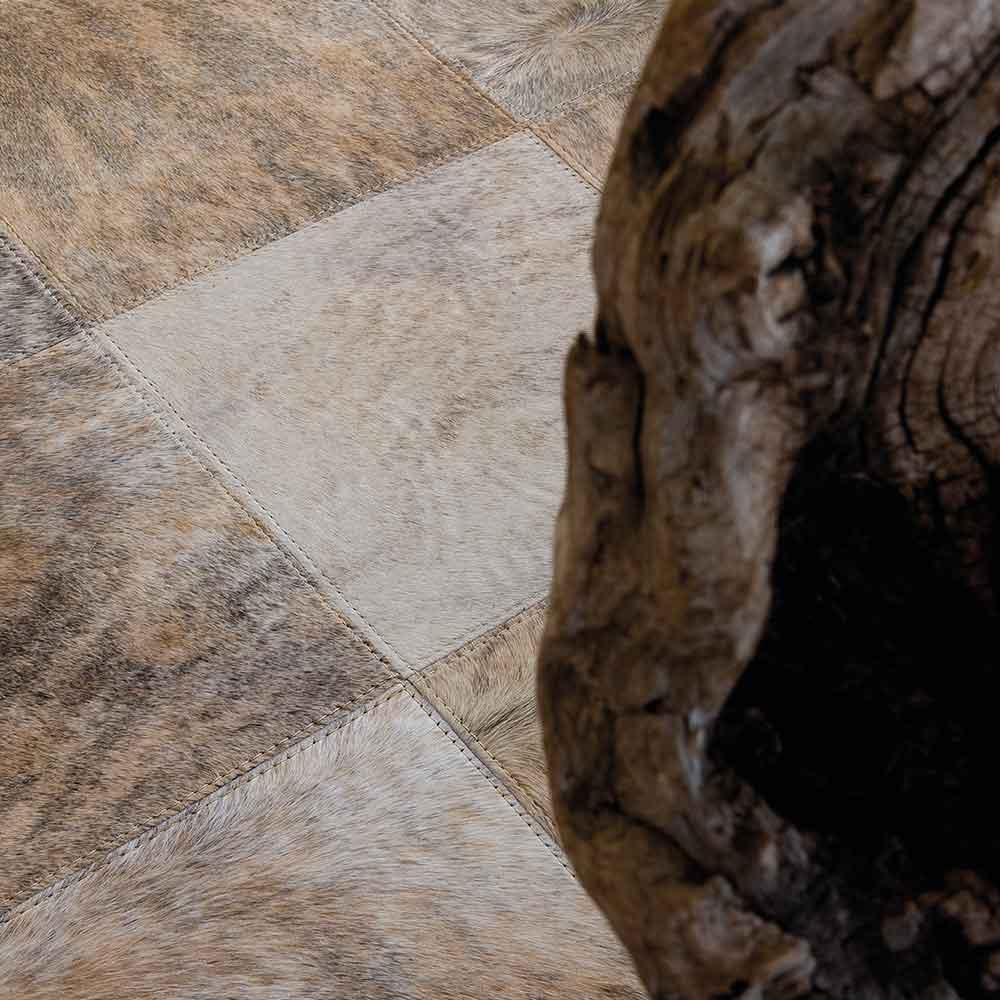 close up: detailed patchwork and natural color variations