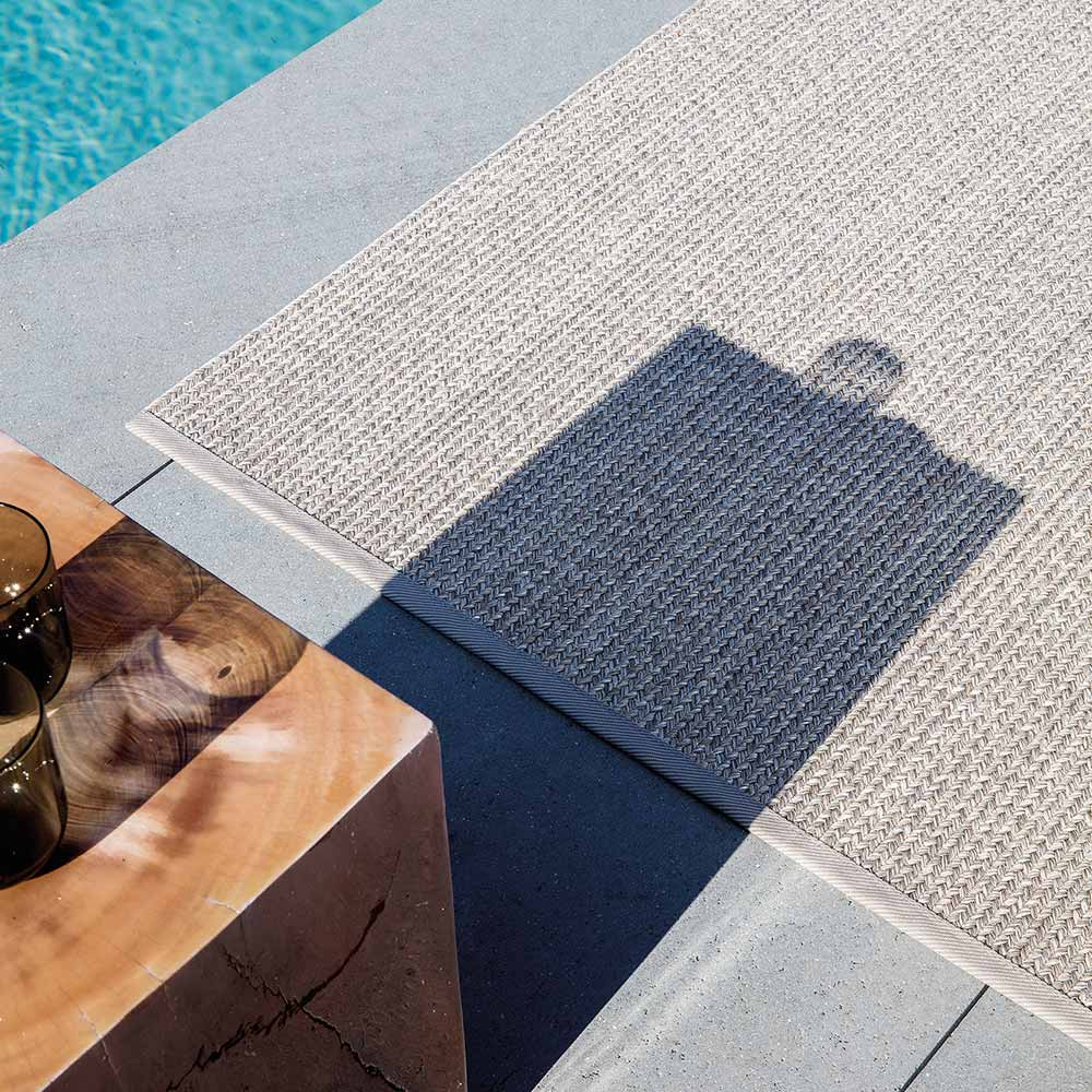 a nice addition to your outdoor area: poolside shown in pebblestone