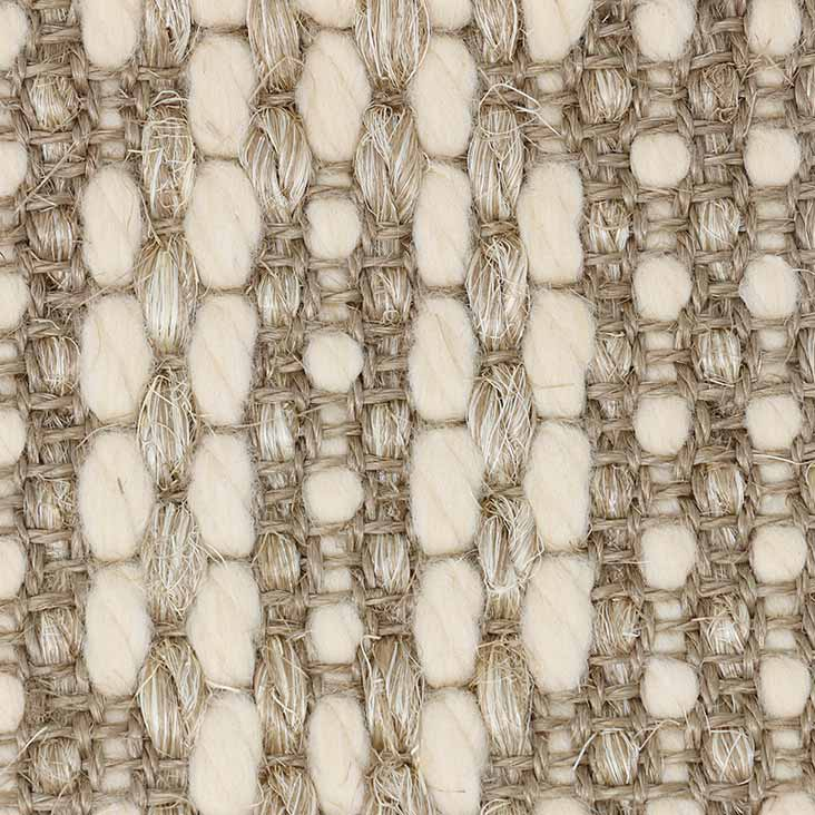 thick wool strands interwoven with sisal
