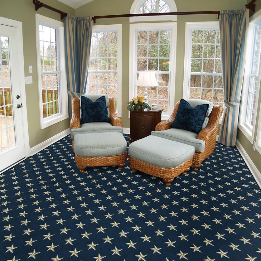 stately inspiration: ocean star in navy is at home in residences and inside boats