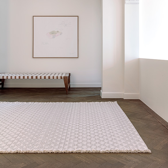 comfort of wool: warm up a space with a wool blend rug (color pearl)