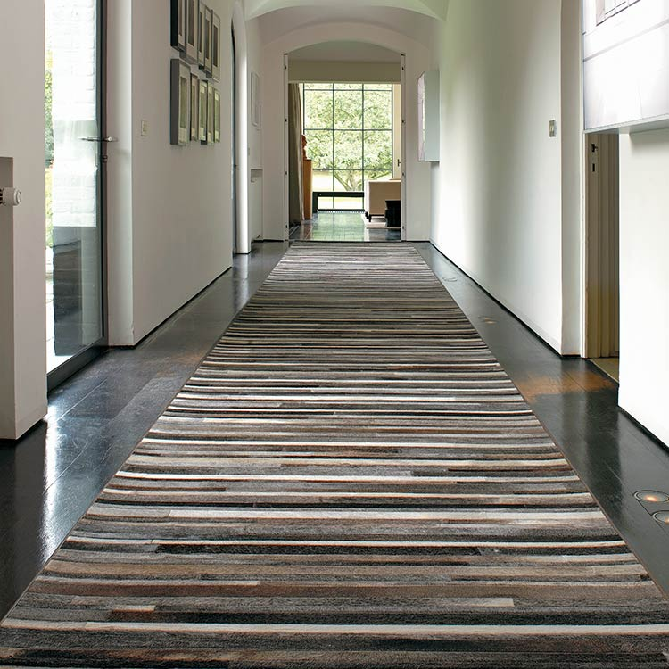 stunning flash leather runner in a hallway