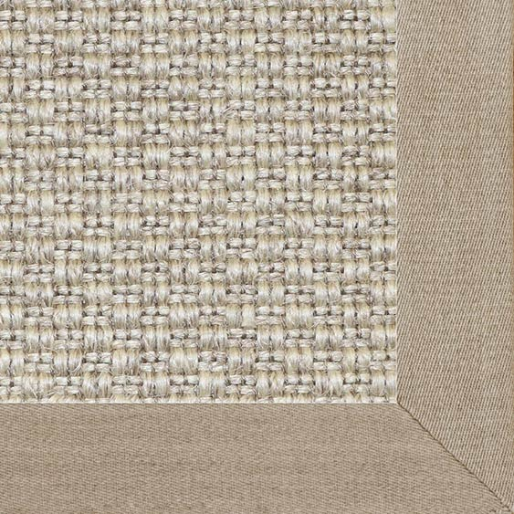 designer touch: finish your custom halifax sisal rug with mitered corners & a smooth linen binding in color oyster