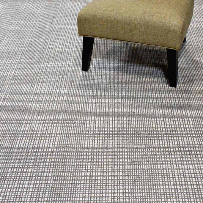 minimalistic but impressive: grid design of grand central in pewter | ivory