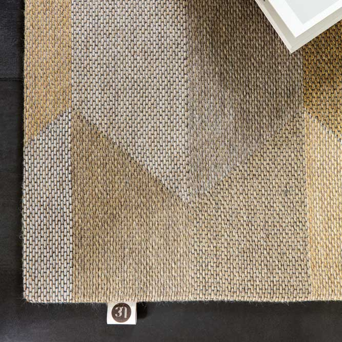 for the earth-tone lovers: diabolo in tiger eye; rugs need no additional finish (binding)