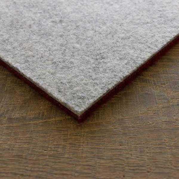 detail of eco tile backing (recycled polyester felt and natural latex)