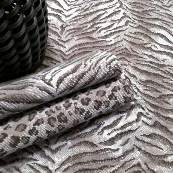 playing with animal skin patterns: kraal tigress and kraal leopard (both in tan)