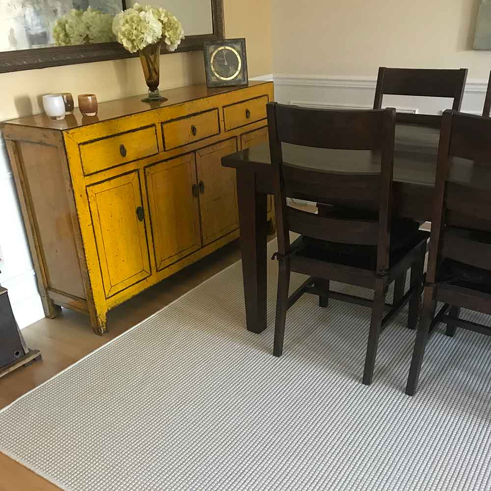 photo of custom makatea rug courtesy from one of our satisfied customers