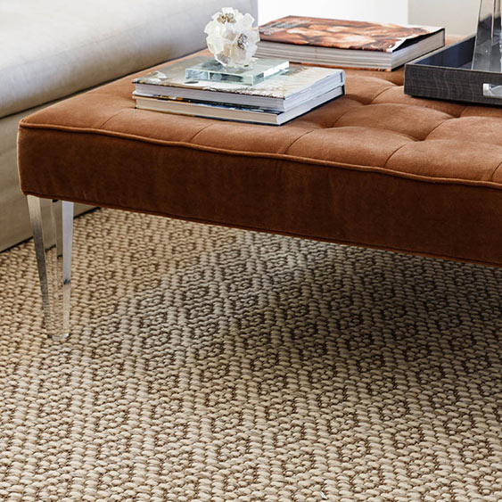 soft underfoot: wool makes this sisal-blend carpet extra cozy