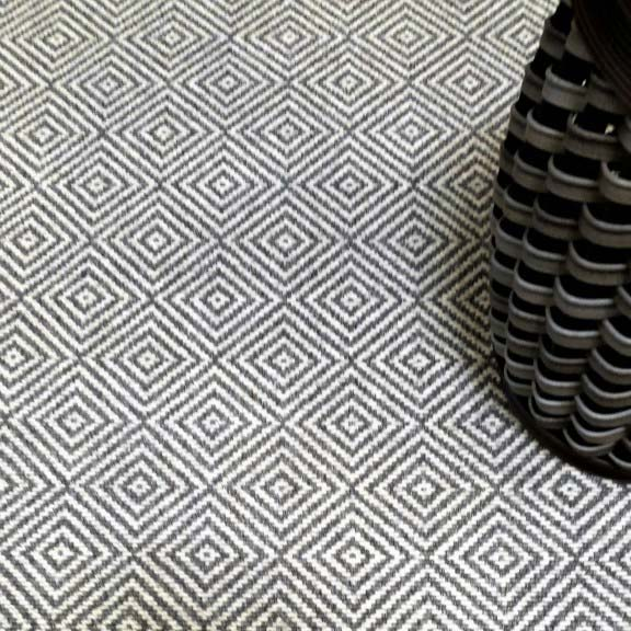 are you getting dizzy yet? geometric pattern of metropolitan in steel | ivory