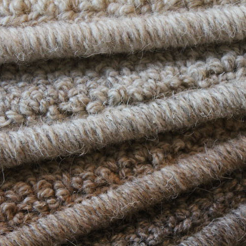 wool serged edge up close
