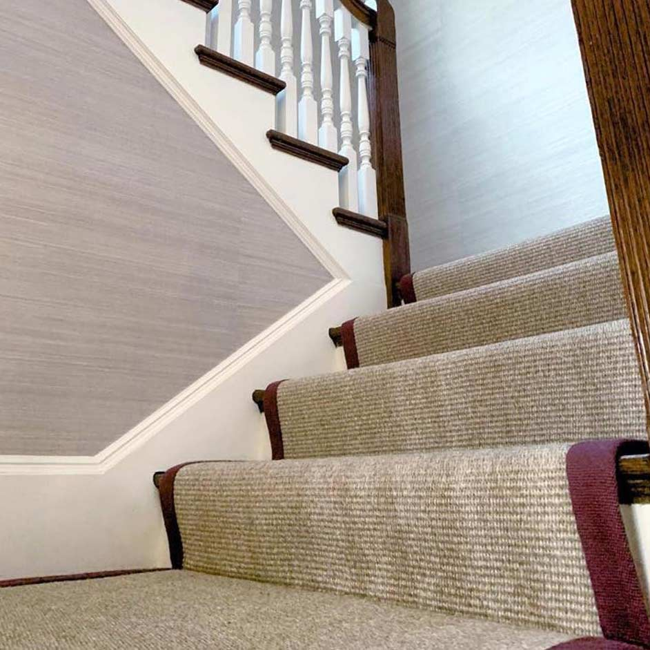 stain-resistant sisal is ideal for staircases image provided courtesy of joshua bogert and tyler & sash