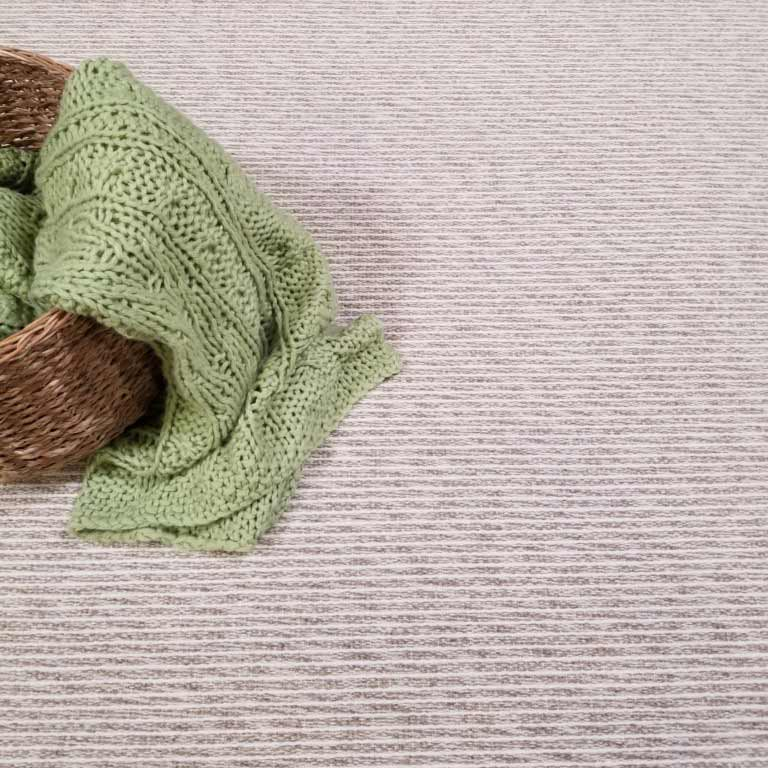 soft wool flooring: brushstroke in color ivory | grey