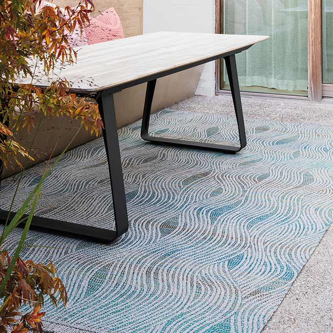 delight in the outdoors: alfresco wave in turquoise