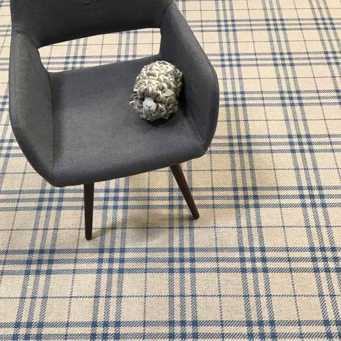 grand plaid: glencoe in color bluebell
