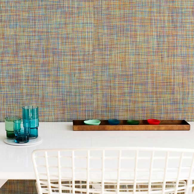 chilewich mini basketweave wall cover in color garden