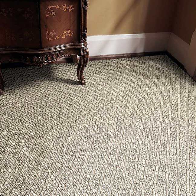 stunning diamond pattern: salt spring stain-resistant sisal rug in color jasper