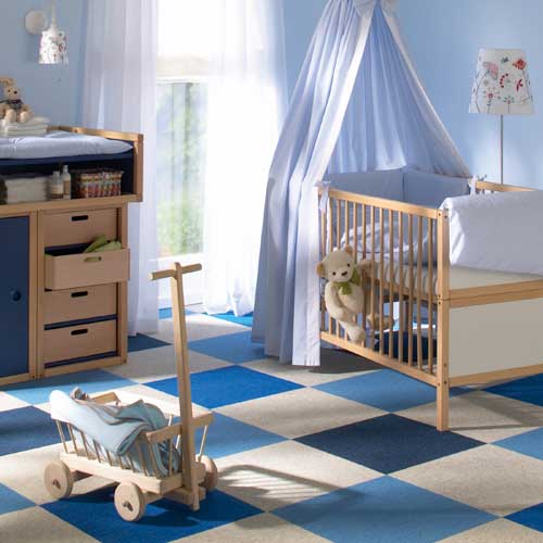 checkerboard: a playful pattern in perfect colors for a child's room