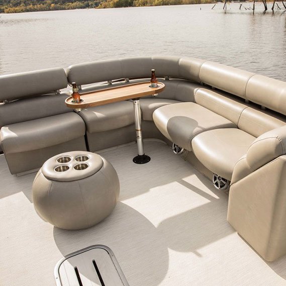 luxury living: sandbar tailored for outdoor spaces image provided courtesy of premier pontoons