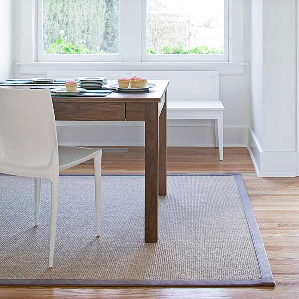 timeless style: orcas area rug under dining table