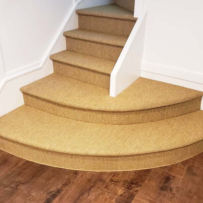 stunning: a custom stair runner (in color curry)