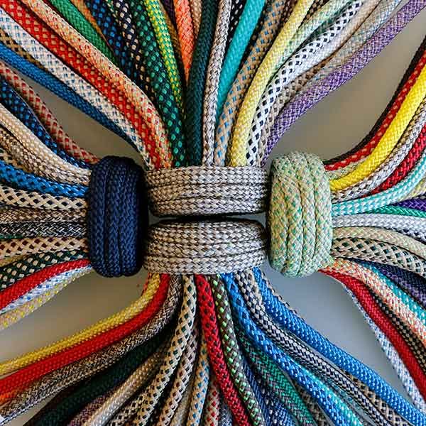 a rainbow of rope colors to choose from for a custom design