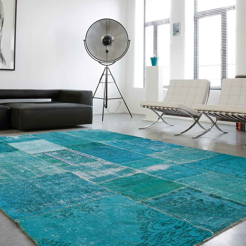 stunning patchwork: mystic in turquoise green
