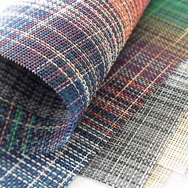 close-up: texture of chilewich plaid weaves