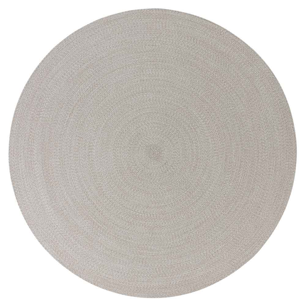 poolside circular area rug shown carrara