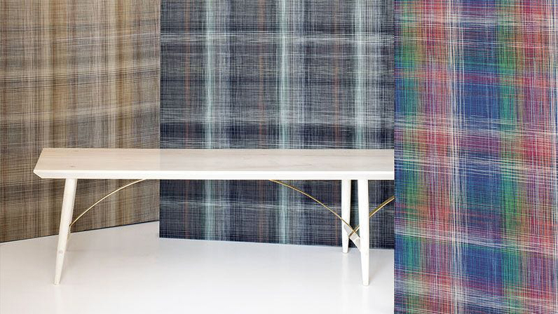 chilewich plaid wallcover colors